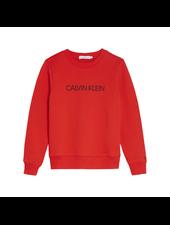 Calvin Klein institutional logo sweater Rood