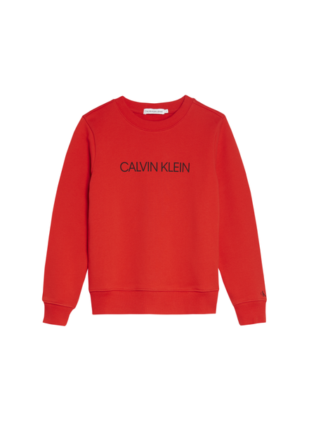 Calvin Klein institutional logo sweater Rood