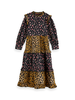 Scotch & Soda Scotch Rebelle Crispy cotton mix print maxi dress