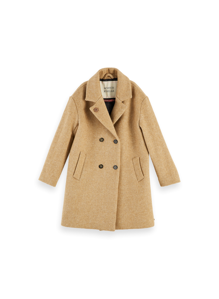 Scotch & Soda Oversized double breasted wool coat
