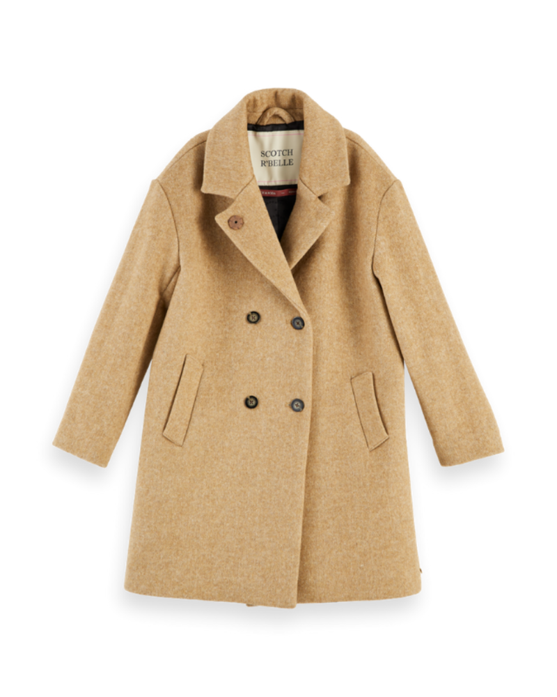 Scotch Rebelle Scotch Rebelle Oversized double breasted wool coat