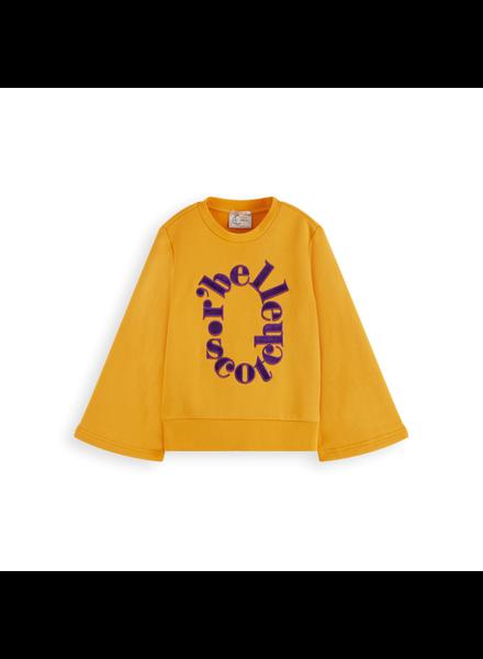 Scotch & Soda Crewneck sweater A-line sleeves