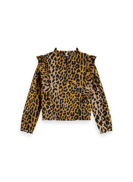 Scotch Rebelle All-over printed top with ruffles