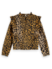 Scotch & Soda Scotch Rebelle All-over printed top with ruffles