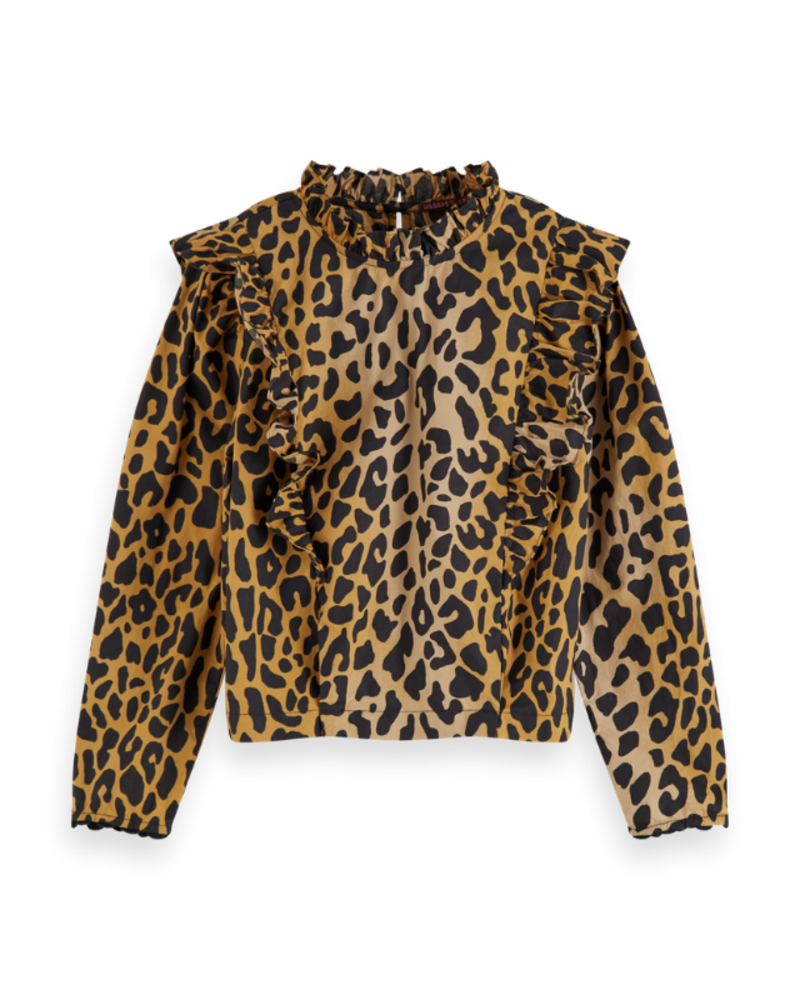 Scotch Rebelle Scotch Rebelle All-over printed top with ruffles