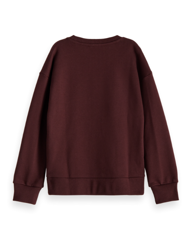 Scotch Rebelle Scotch Rebelle Org. cotton sweater velvet applic.