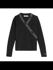 Calvin Klein Wrap LS slim top