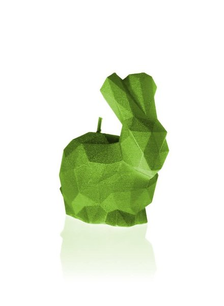 Candle rabbit low poly small lime
