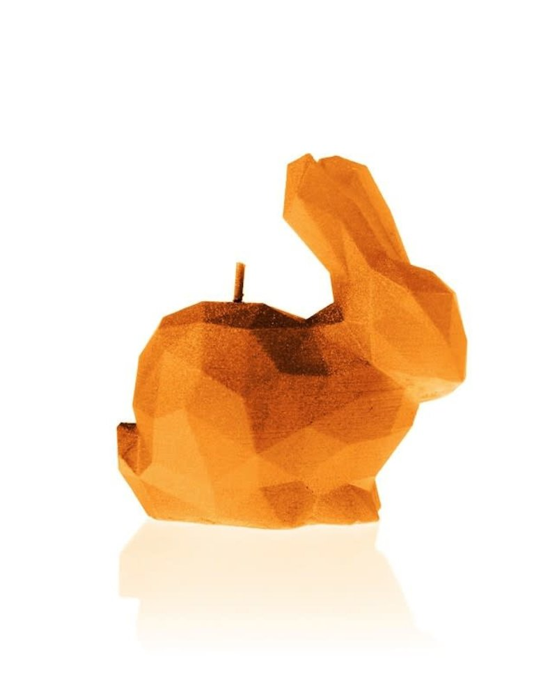 Candle rabbit low poly small orange