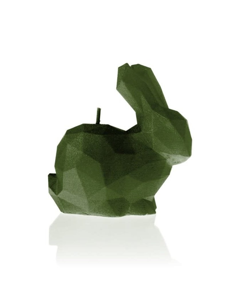 Candle rabbit low poly small dark green