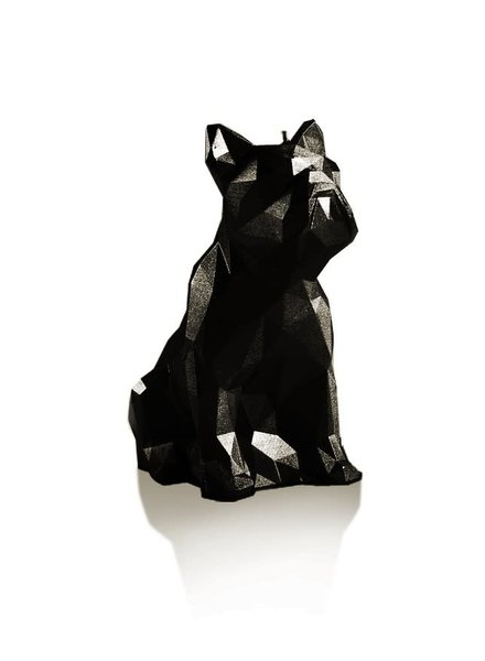 Candle bulldog low poly black