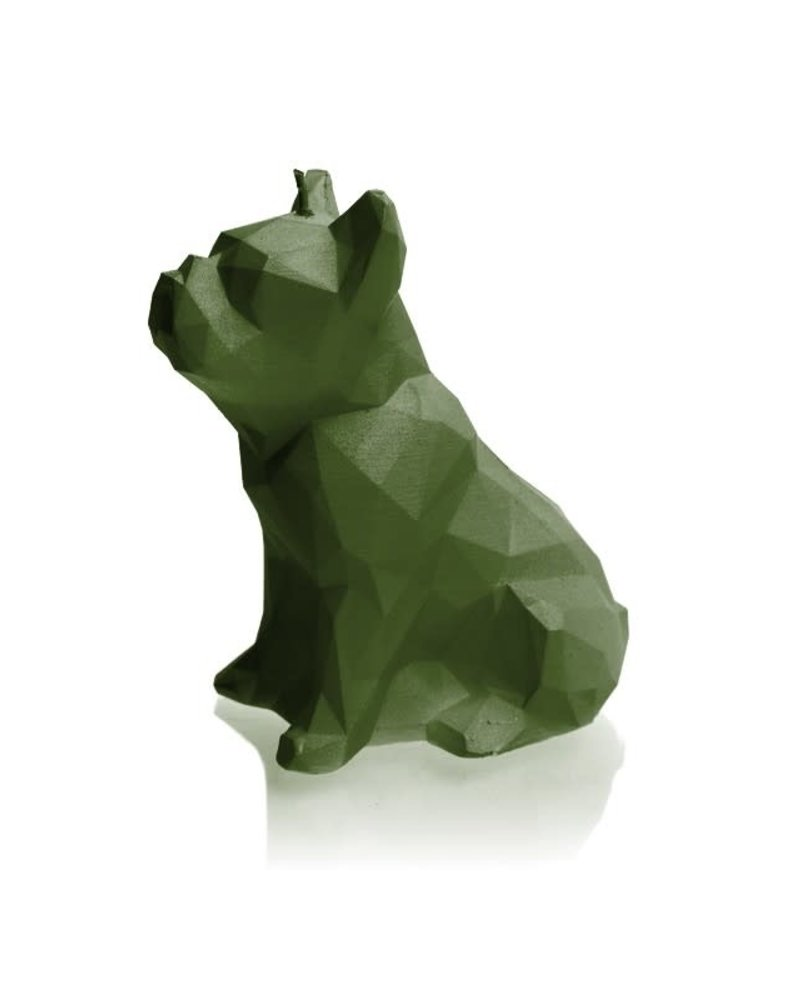 Candle bulldog low poly green