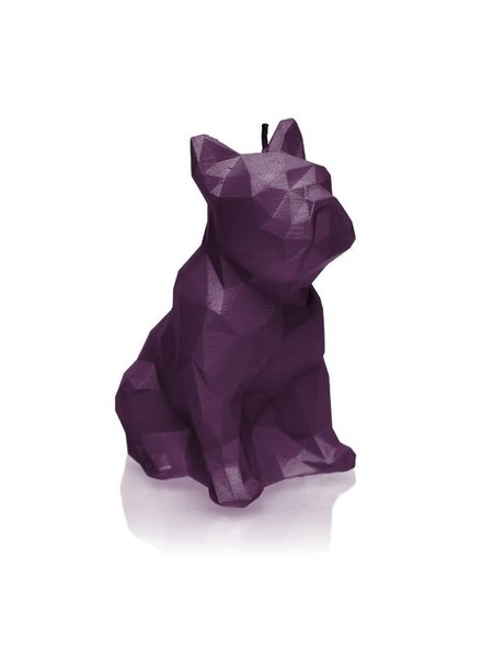 Candle bulldog low poly violet