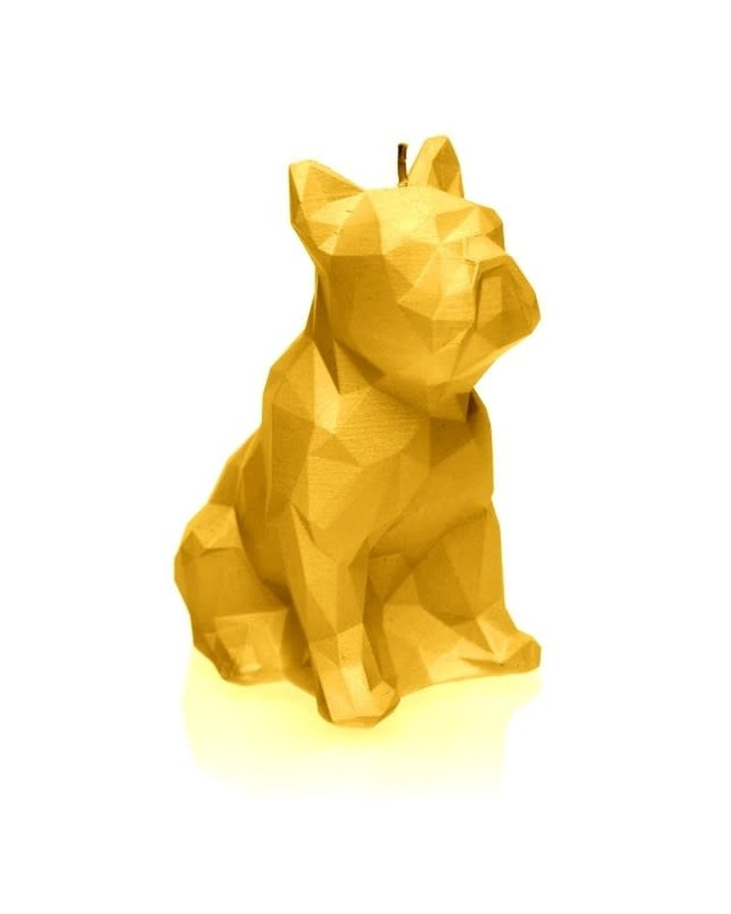 Candle bulldog low poly yellow