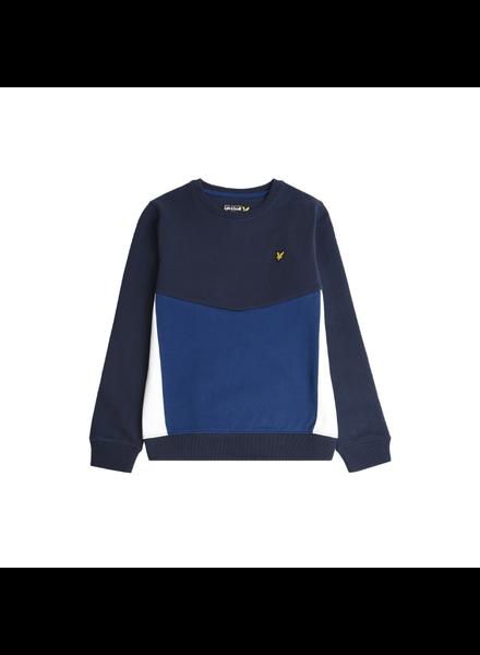 Lyle en Scott Multi Panel BB Sweatshirt Blauw