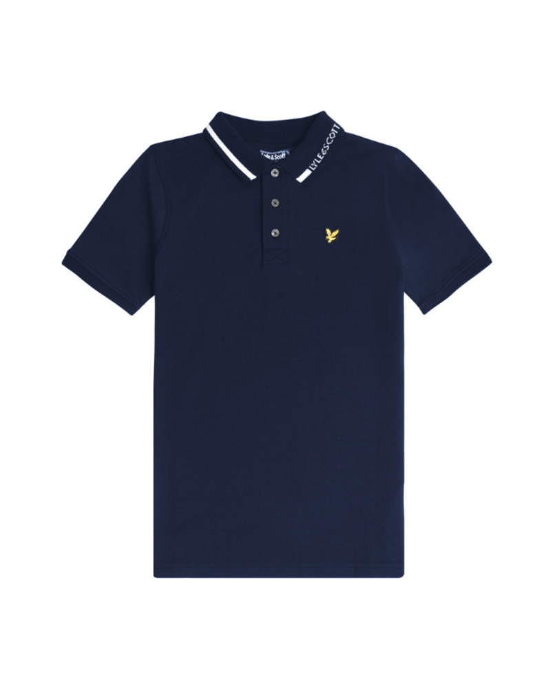 Lyle en Scott Lyle en Scott Branded Collar Polo Navy Blazer