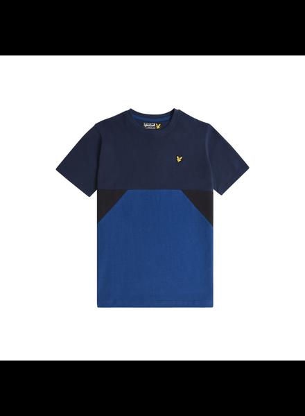 Lyle en Scott Geo Panel T-Shirt Navy Blazer