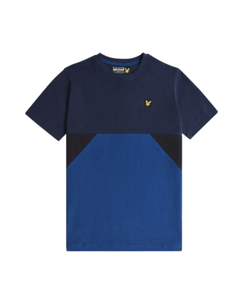Lyle en Scott Lyle en Scott Geo Panel T-Shirt Navy Blazer