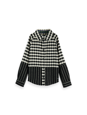 Scotch & Soda Cut & sew shirt flannel check stripe