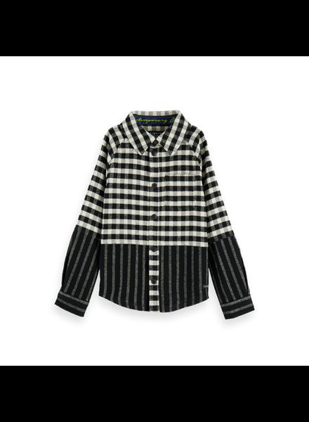 Scotch Shrunk Cut & sew shirt flannel check stripe