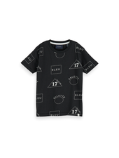 Scotch & Soda Crew neck tee  AO print