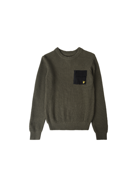 Lyle en Scott Woven pocket knit Groen