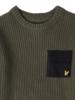 Lyle en Scott Woven pocket knit LSC0475 Groen