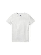 Tommy Hilfiger Boys basic cn KNIT t-shirts grijs
