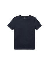 Tommy Hilfiger Boys basic cn KNIT t-shirt blauw