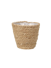 17 cm mand Pot paper and straw