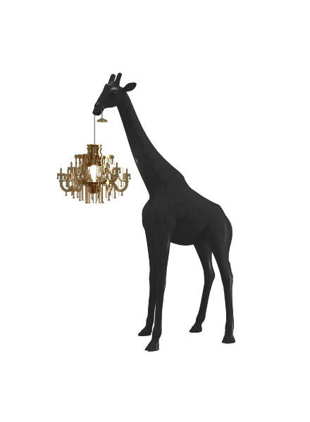 Qeeboo Qeeboo Giraffe in Love XS lamp - Black