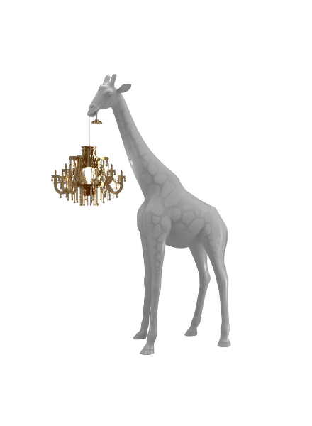 Qeeboo Qeeboo Giraffe in Love XS lamp - Cold Sand