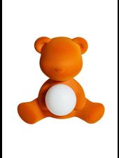 Qeeboo Qeeboo Teddy Girl Velvet LED lamp - Orange