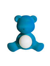 Qeeboo Qeeboo Teddy Girl Velvet LED lamp - Light Blue