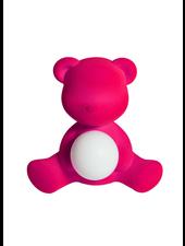 Qeeboo Qeeboo Teddy Girl Velvet LED lamp - Fuxia
