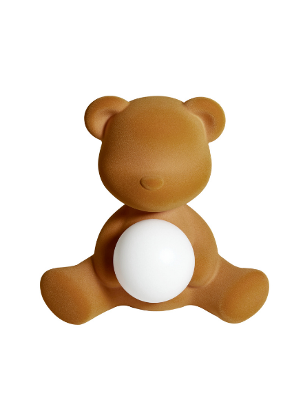 Qeeboo Qeeboo Teddy Girl Velvet LED lamp - Arena