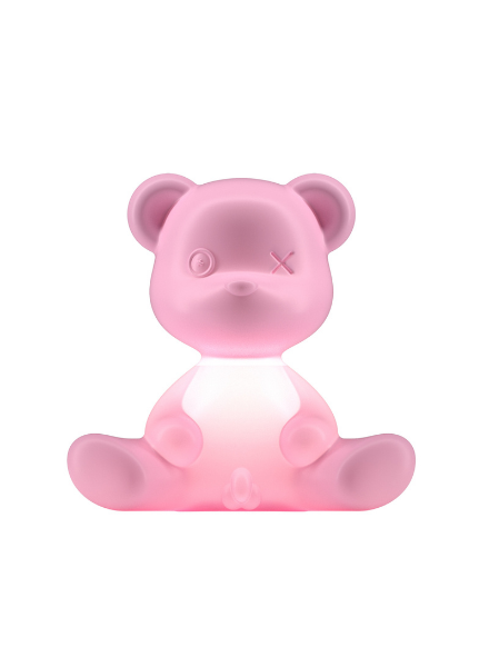 Qeeboo Qeeboo Teddy Boy lamp indoor plug - Bright Pink