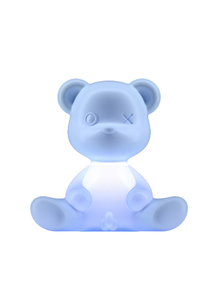 Qeeboo Qeeboo Teddy Boy lamp indoor plug - Light Blue