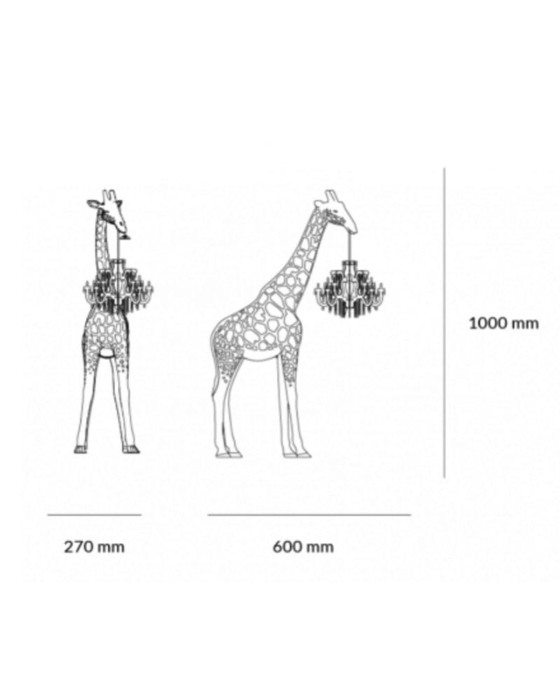 Qeeboo Qeeboo Giraffe in Love XS lamp - Black
