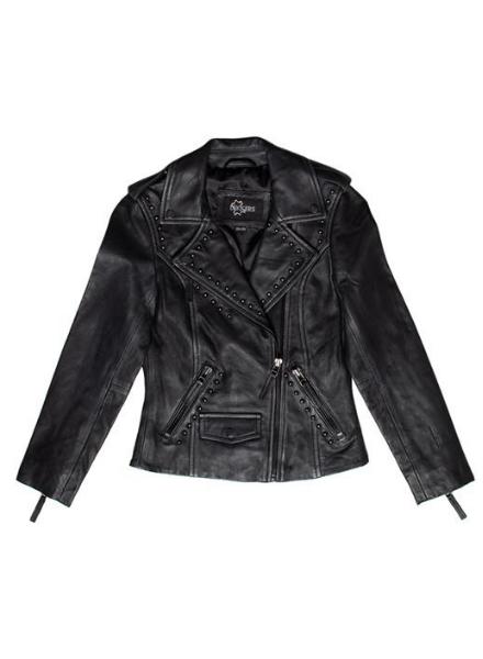 Dekkers Leather biker jacket studs