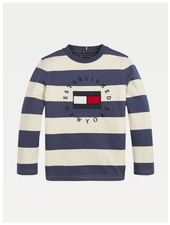 Tommy Hilfiger TH stripy heritage logo t-shirt