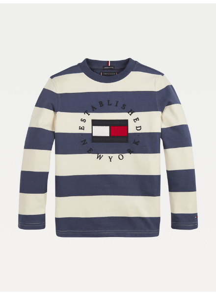 Tommy Hilfiger TH stripy heritage logo t-shirt