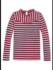 Tommy Hilfiger TH stripe rib knit top