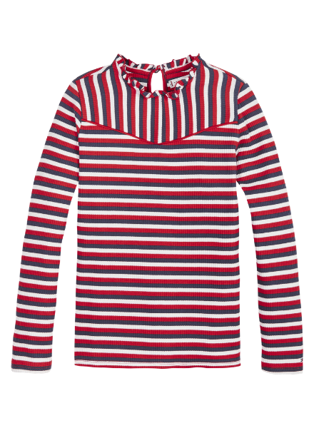 Tommy Hilfiger TH stripe rib knit top