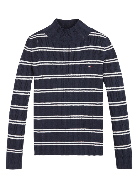 Tommy Hilfiger TH pointelle stripe pullover