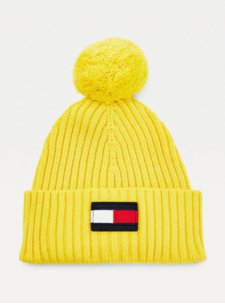 Tommy Hilfiger TH big flag beanie pom hat