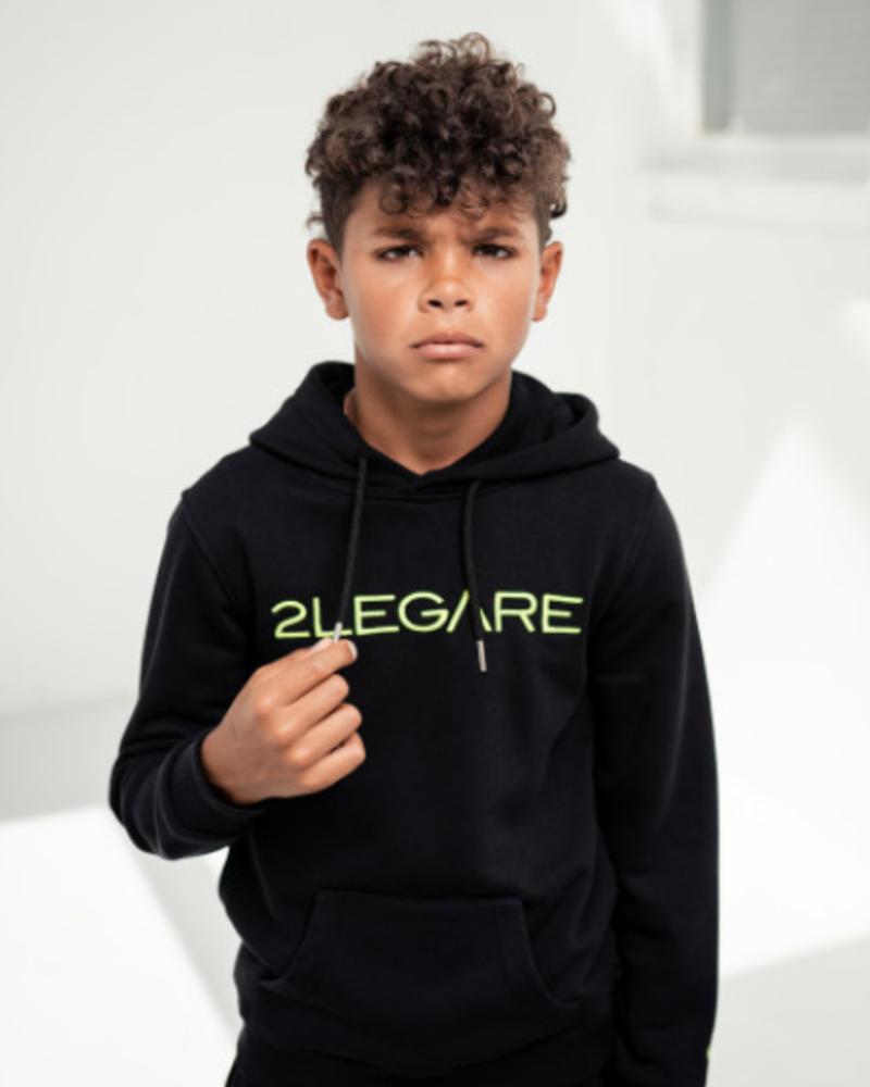 2Legare 2LEGARE Kids Logo Embroidery Hoodie