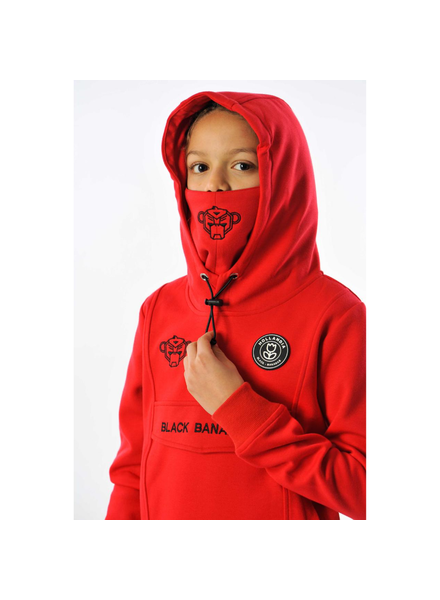 Black Bananas JR Mask Hoody rood