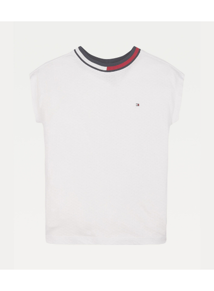 Tommy Hilfiger mesh knit top S/S