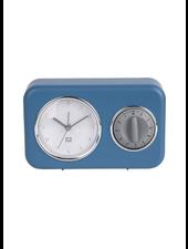 Clock kitchen timer nostalgia blue